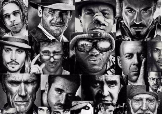 Ünlü Sanatçı Rick Fortson'dan Ünlülerin Karakalem Portreleri