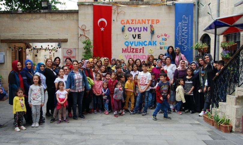 Kahramanmaraş Menekşe Anaokulu öğrencileri Gaziantep'te