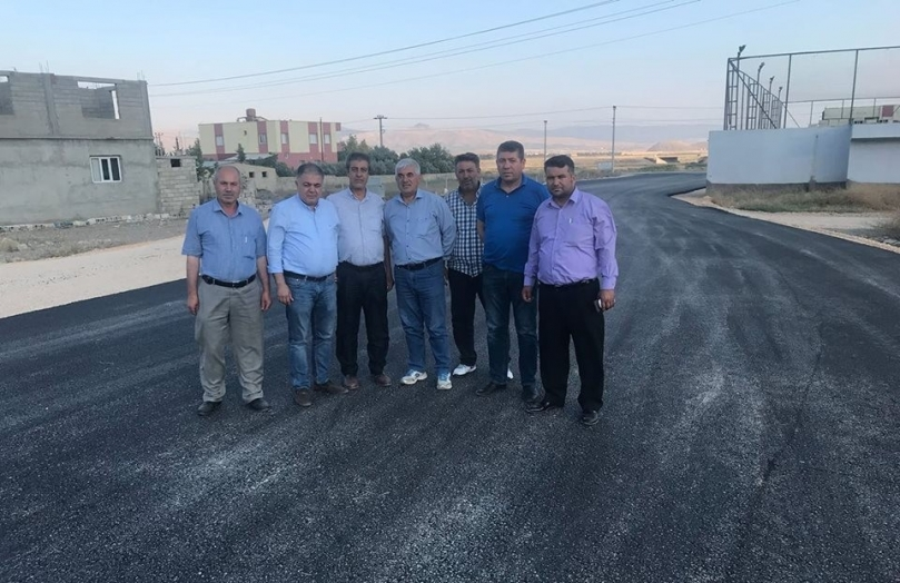 Nurdağı'nda alt yapımı tamamlandı yol yapımına başlandı