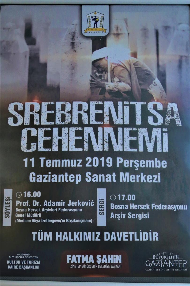 Srebrenitsa Katliamında hayatını kaybedenler, bu yıl Gaziantep'te anılacak