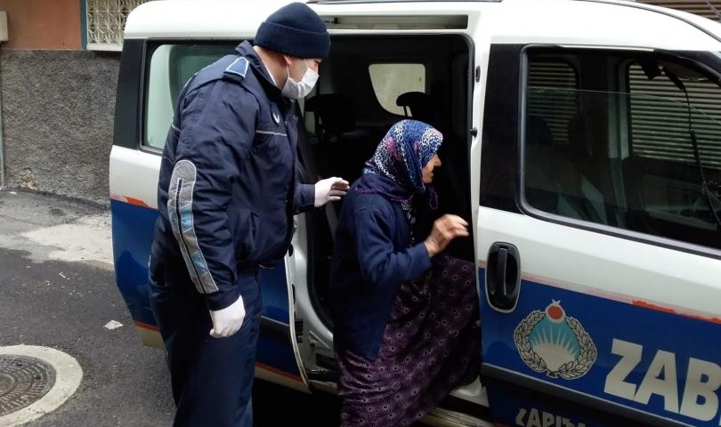 Büyükşehir Zabıta Ekipleri 65 yaş üstü vatandaşları unutmadı