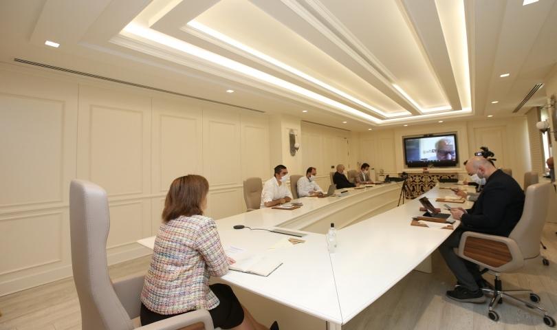 Fatma Şahin ortadoğu liderleriyle bir araya geldi