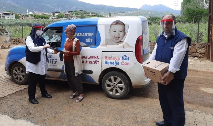 Büyükşehir'den anne adaylarına 264 bin litre süt