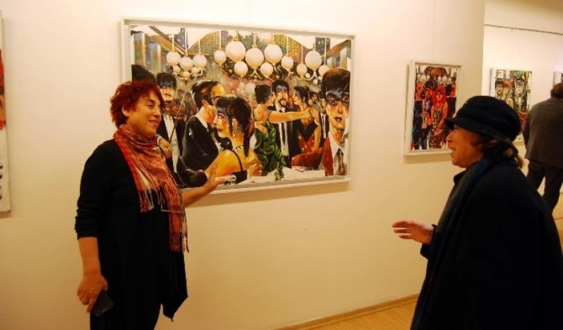 """""""Anılar"""" temalı resim sergisi açıldı"""