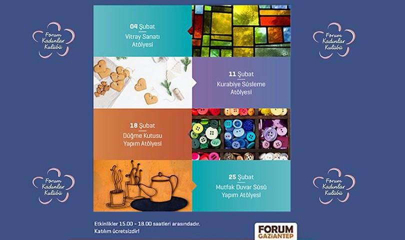 Forum Gaziantep Kadınlar Kulübü Şubat Programı