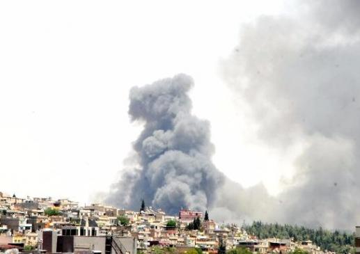 Gaziantep'te Fabrika Yangını